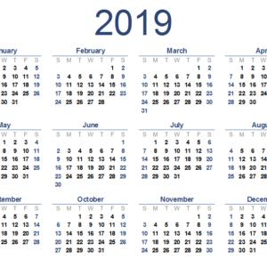 Program for 2019
